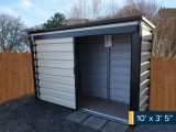 10ft-x-3ft5-shed-door-open